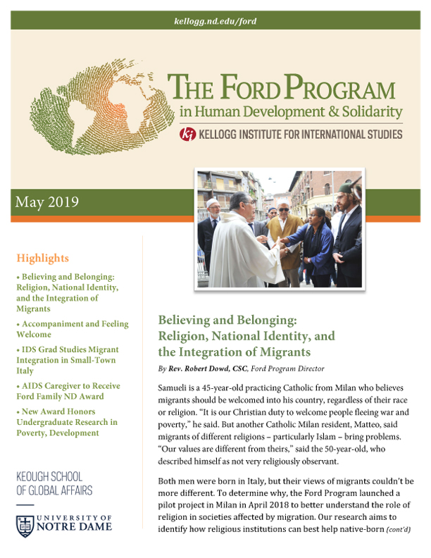 The Ford Program in Human Development Studies and Solidarity