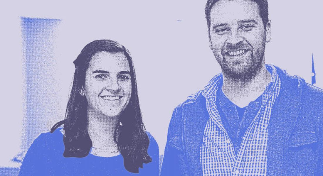 Former Doctoral Affiliate Maria Gibbs and Dustin Mix