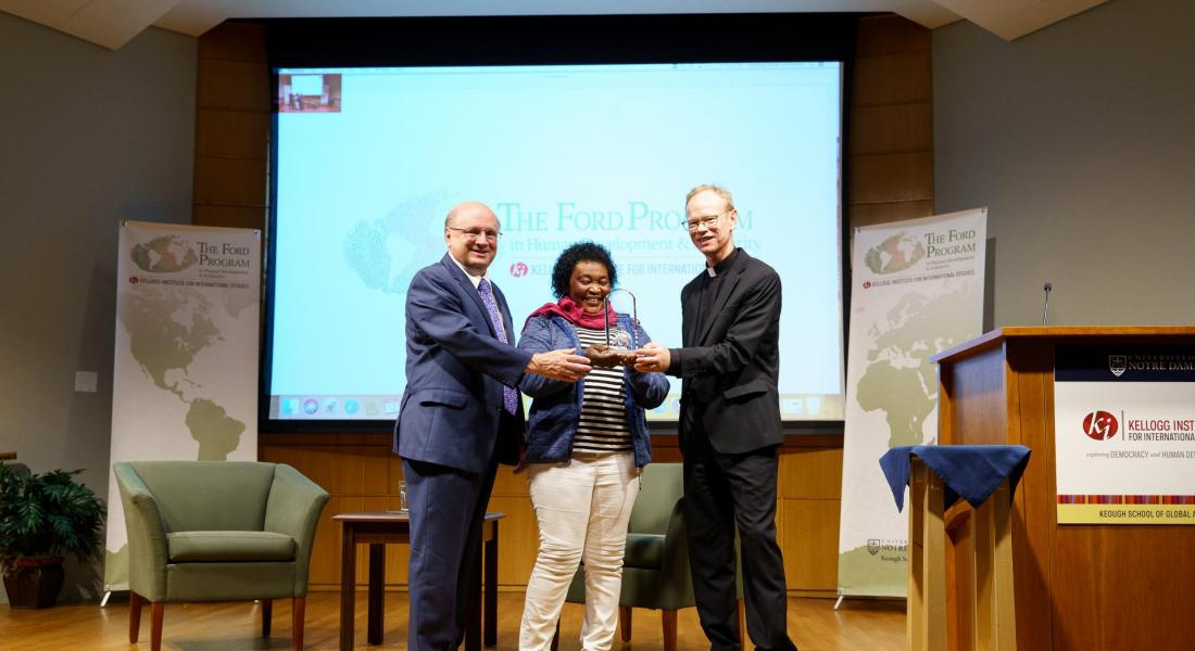 Notre dame Award to Rose Busingye