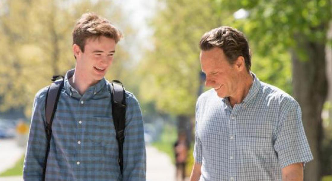 Luke Maillie '18 and Faculty Fellow Steve Reifenberg