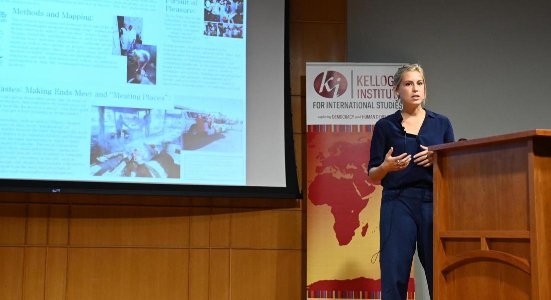 Emily deWet presenting at Spotlight