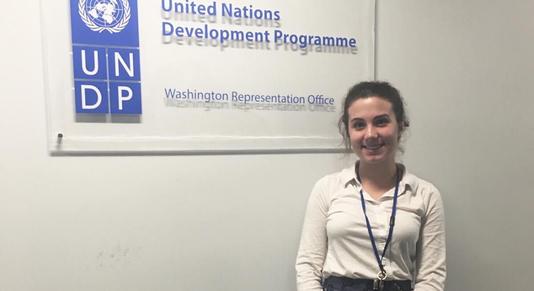 Natasha Reifenberg interned at the United Nations Development Program in Washington, D.C.