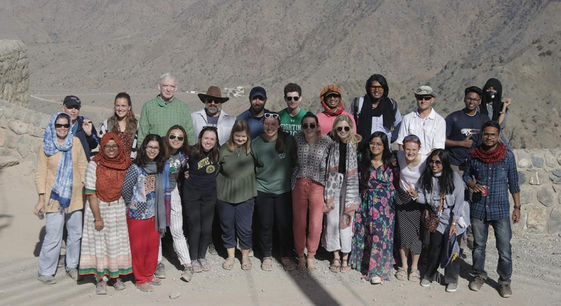 Mahan Mirza and group in Oman