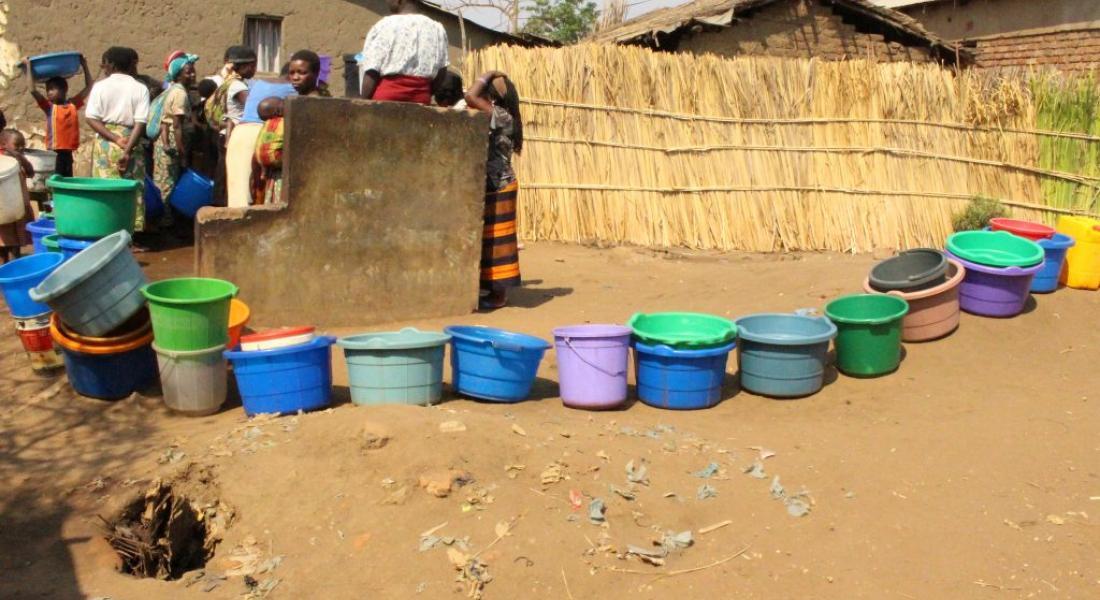 Water Buckets in Malawi