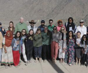 Mahan Mirza and group in Oman