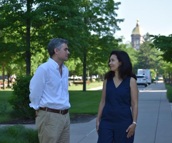 Kellogg Visiting Fellows Catia Batista and Pedro Vicente