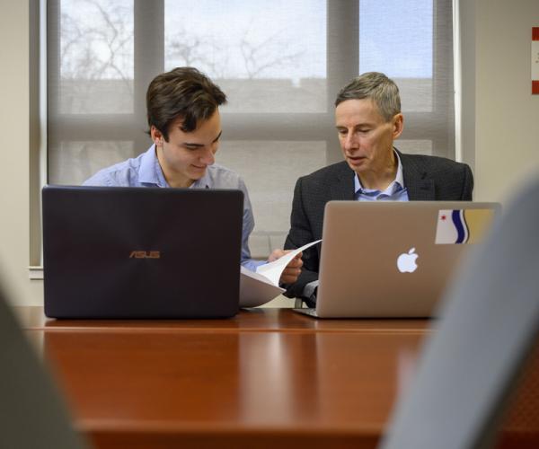 Kellogg International Scholar Kevin Angell & Faculty Fellow Andy Gould
