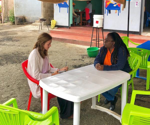 Maggie Doyle in Tanzania