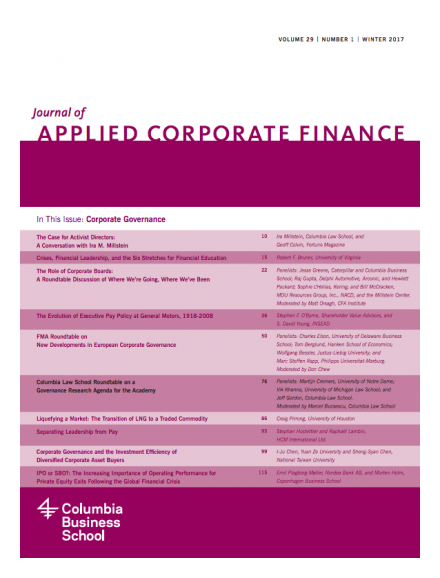 Journal of Applied Corporate Finance