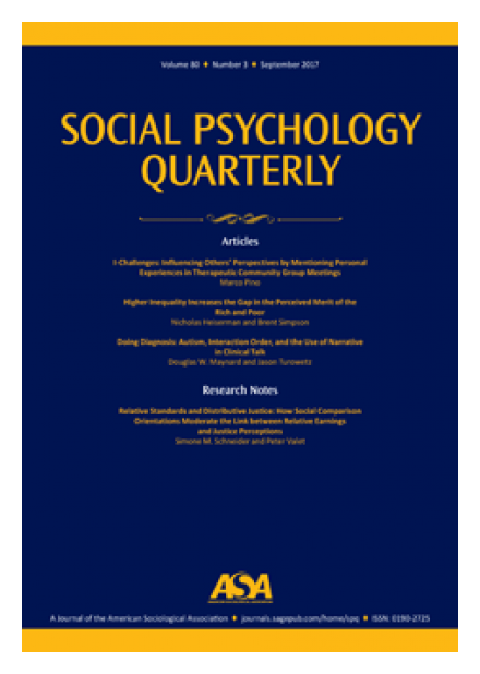 Social Psychology Quarterly article by Terence McDonnell